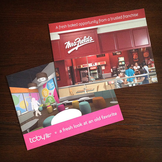 Franchising brochure design for TCBY and Mrs. Fields