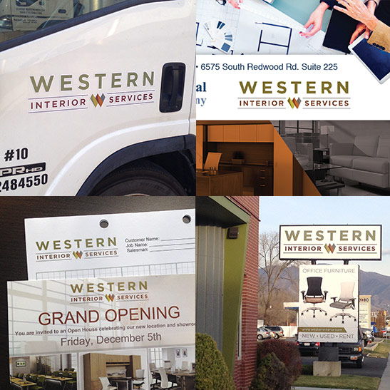 Logo applications for Western Interior Services