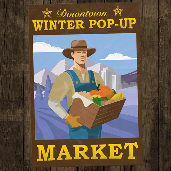 illustration for a salt lake city farmers market