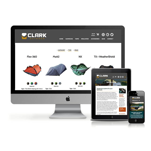 eCommerce web design for a Salt Lake City product