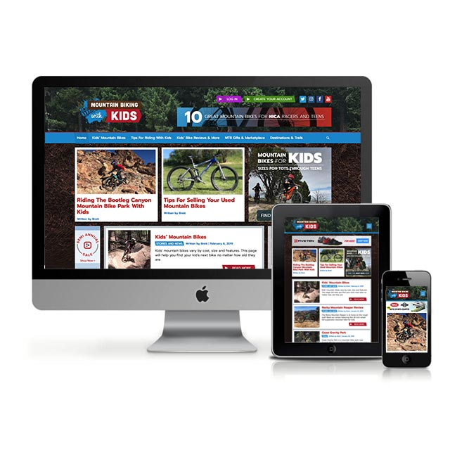 web development and design for mountain bike website